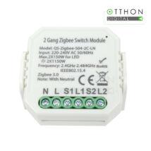 SmartWise Zigbee 230V relé két áramkörös, kapcsolóbemenettel (eWeLink és Tuya kompatibilis)