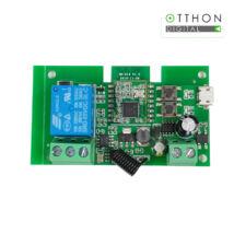 SmartWise 5V-32V egy áramkörös, Zigbee + RF NO/NC okosrelé, kontakt kapcsolással, impulzus üzemmóddal