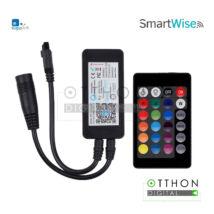 """<strong>SmartWise WiFi-s RGB LED vezérlés</strong><br><p style=""""font-size:0.8EM"""">eWeLink/Sonoff-kompatibilis (LED szalag nélkül)<p>"""