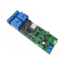 SmartWise - 5V-32V Két áramkörös Sonoff kompatibilis, WiFi-s, távvezérelhető okos kapcsoló relé, impulzus kapcsolási üzemmóddal