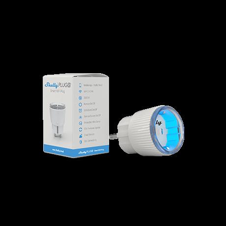 Shelly Plug S WiFi-s, interneten át vezérelhető, mini okoskonnektor, fogyasztásmérővel (2500W)
