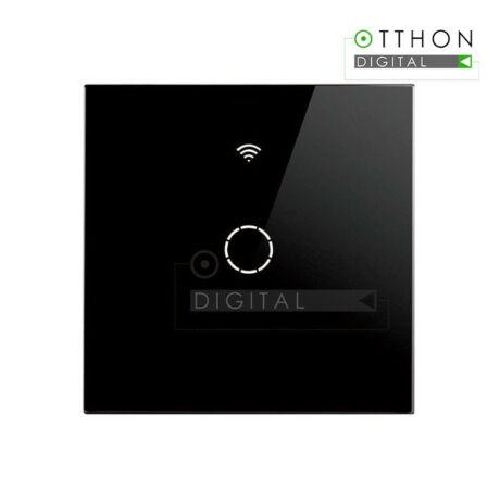 SmartWise T4 EU 1C fekete WiFi+RF, távvezérelhető, érintős okos villanykapcsoló