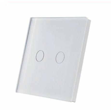 <strong>SmartWise T1R2 kettős/csillár</strong><br> (Sonoff kompatibilis) vezeték nélküli, RF (rádiós), alternatív / keresztváltó kapcsoló / fali RF távirányító (fehér)