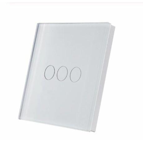 SmartWise T1R2 hármas/csillár (Sonoff kompatibilis) vezeték nélküli, RF (rádiós), alternatív / keresztváltó kapcsoló / fali RF távirányító (fehér)
