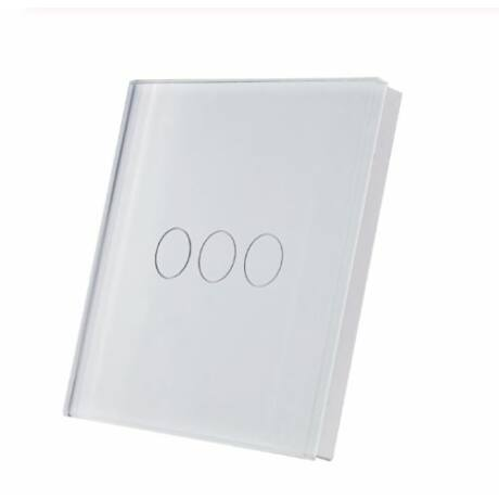 <strong>SmartWise T1R3 hármas/csillár</strong><br>(Sonoff kompatibilis) vezeték nélküli, RF (rádiós), alternatív / keresztváltó kapcsoló / fali RF távirányító (fehér)