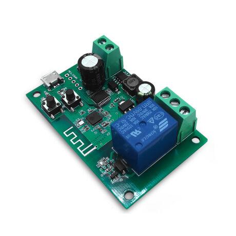 SmartWise - 5V-32V egy áramkörös Sonoff kompatibilis, WiFi-s, távvezérelhető okos kapcsoló relé, impulzus kapcsolási üzemmóddal