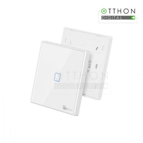 SONOFF T2 EU 1C RF vezeték nélküli 433MHz RF fali kapcsoló, 1 gombos