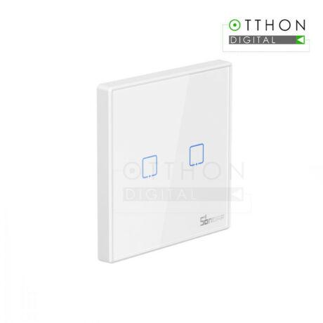 SONOFF T2 EU 2C RF vezeték nélküli 433MHz RF fali kapcsoló, 2 gombos