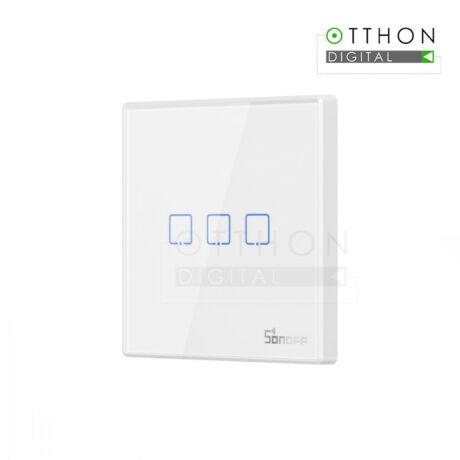 SONOFF T2 EU 3C RF vezeték nélküli 433MHz RF fali kapcsoló, 3 gombos