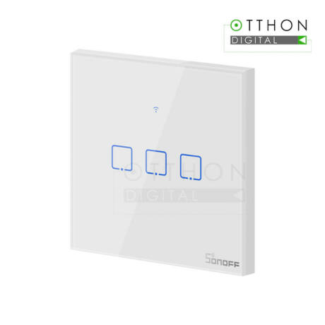 Sonoff TX T1 EU 3C WiFi + RF vezérlésű, távvezérelhető, érintős hármas csillár villanykapcsoló