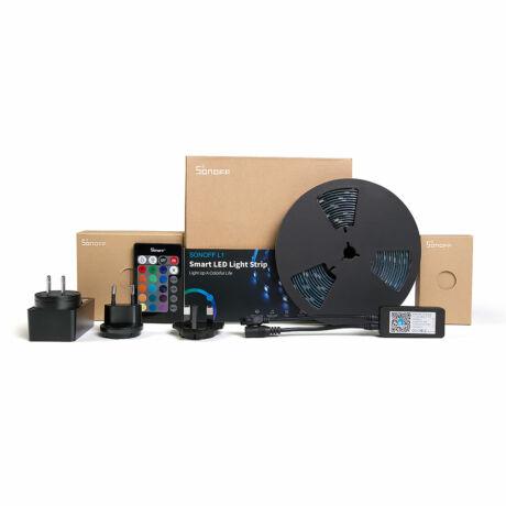 <strong>Sonoff L1 beltéri/kültéri RGB LED szalag (2 méter)</strong><br>WiFi-s, internetről távvezérelhető, party üzemmóddal