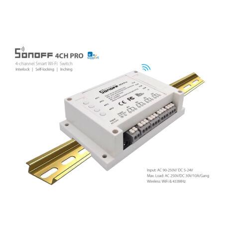 Sonoff RF 4CH PRO-  WiFi vezeték nélküli intelligens kapcsoló