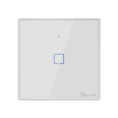 <strong>Sonoff TX T2 EU 1C</strong><br> WiFi + RF vezérlésű, távvezérelhető, érintős 1-es villanykapcsoló (fehér)